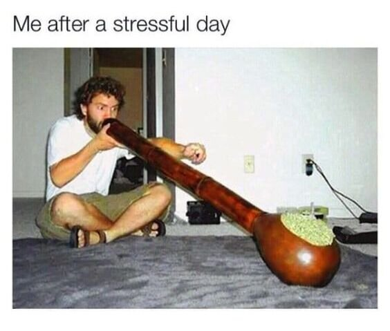 after a stressful day weed meme