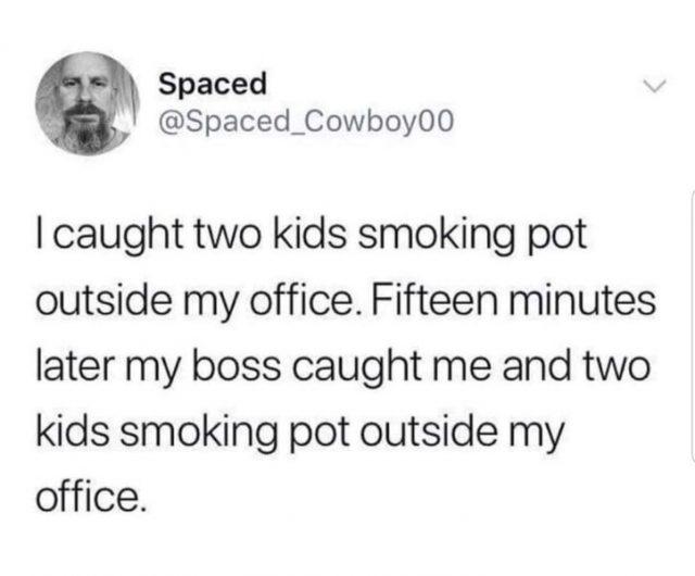 caught smoking pot weed meme
