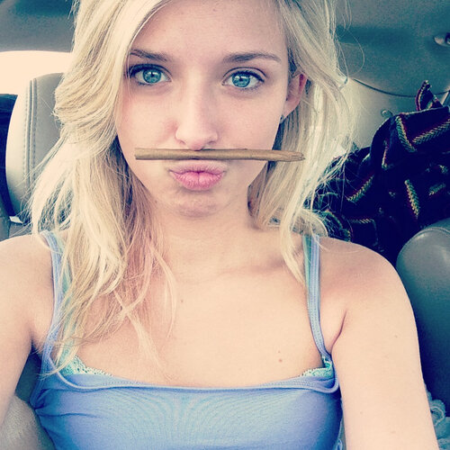 cute blonde stoner chick