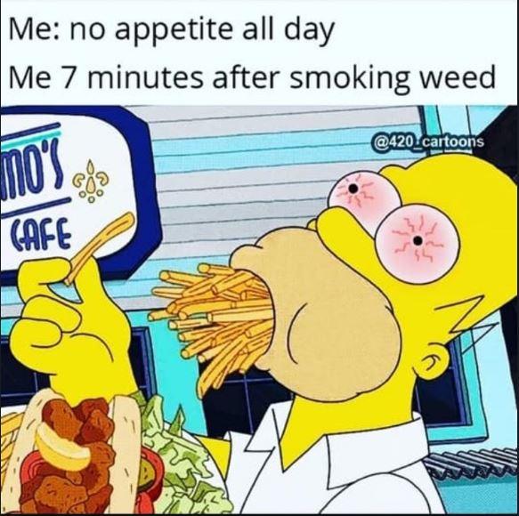 homer simpson munchies weed meme