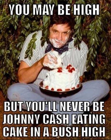 johnny cash eating cake weed meme