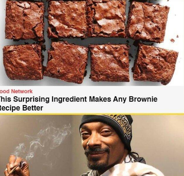 snoop dogg brownie weed meme