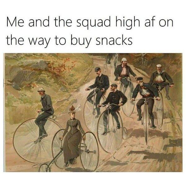 squad high af weed meme