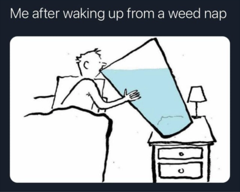 weed nap weed meme