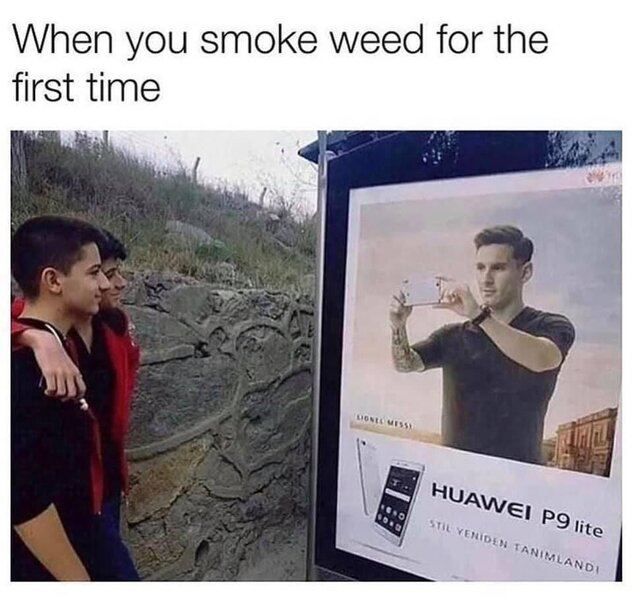 when you smoke weed for the first time weed meme